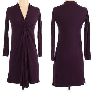 Chaiken Maternity Knotted Front Dress Plum Small